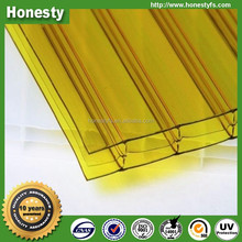 2017 polycarbonate hollow sheet 3 walls multilayer sheet for roofing sheets and partition