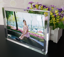 acrylic display photo frame, plexiglass magnet picture frame