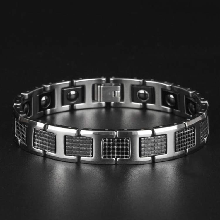 Cheap Wholesale Stainless Steel Jewelry Manufacturer China Bio X Power Energy Magnetic Bracelet Men