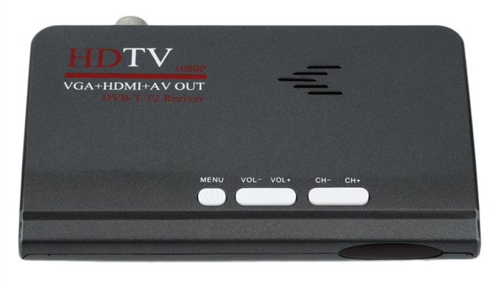 1080P HD TV DVB-T2 DVB-T AV to VGA TV Box USB support MPEG4 For all CRT and LCD monitors