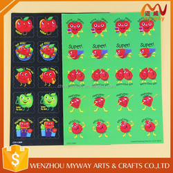 Fruits printed removable decorative custom scratch and sniff sticker