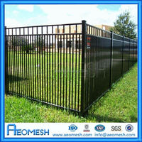 Cheap Wholesale Aluminum Decorative metal post/garden folding fence/playground fence
