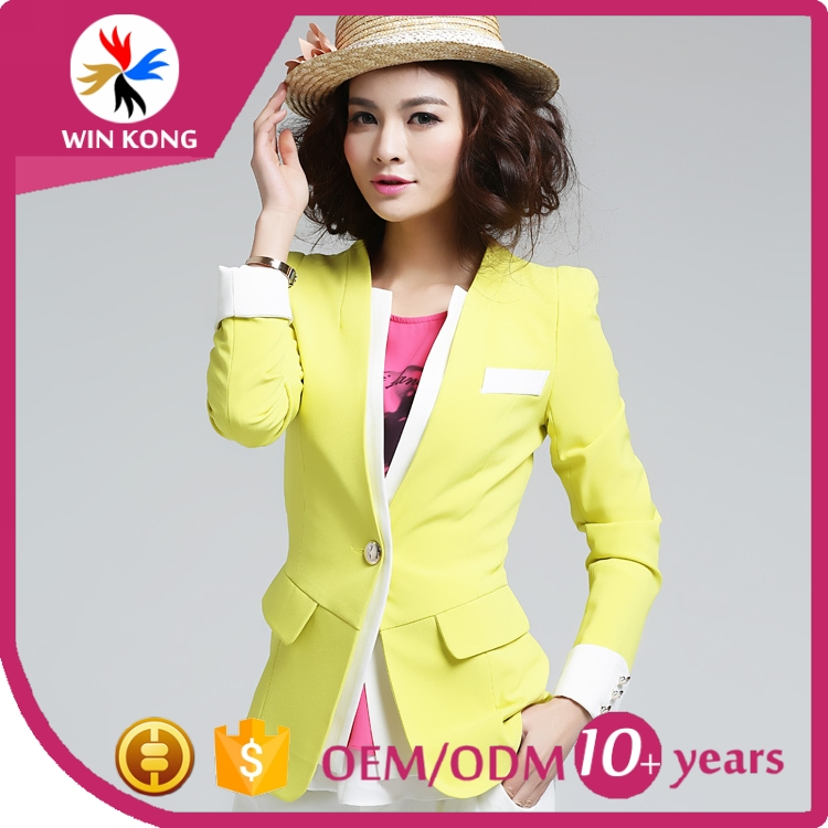 OEM Guangzhou Factory New Fashion Women Office Formal Dress Blazers Lady Small Suits