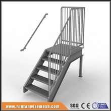 Stair tread steel grating prefab outdoor steps