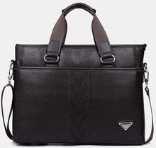 high quality briefcase pu leather business laptop bag