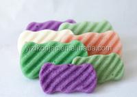 Newest product,wave type and sponge material Massage Konjac sponge