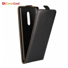 Smartphone Accessories Vertical Flip Phone Leather Case for Nokia 5 Mobile Phone Case Cover