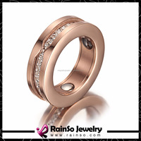 Simple band silver black and rose gold titanium silver 316l stainless steel rings
