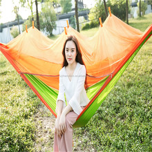 Well selling customize logo parachute hammock with mosquito netting