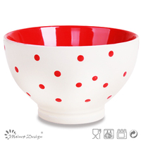 crockery ceramic stoneware cereal bowl with dots design