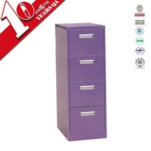 Purple metal 4 drawer file cabinet / Cheap hanging filing cabinet