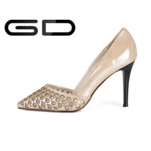 Wholesale 2015 Brand Design Stylish White Bottom Stiletto High Heel Pumps Fashion Shoe For Women