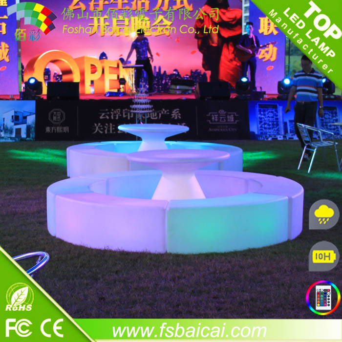 led bar table/light club table/led reception table