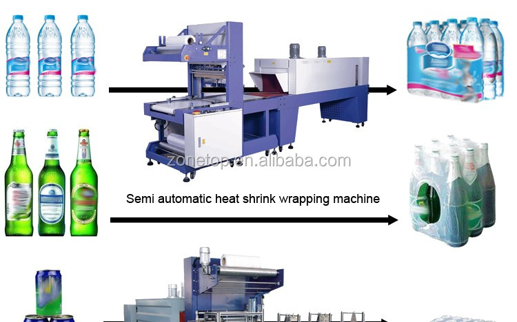Cheap price automatic Italy Model medium speed sport drinks bottle thermal shrink tunnel sleeve labeling machine