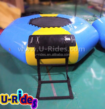 Custom 0.9mm PVC inflatable water trampoline combo used in the sea
