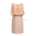 High quality fashion korean style girls' loose-fitting elegant light pink evening dresses