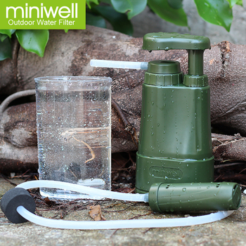 miniwell portable water filter for army personnel military water purification in backpack