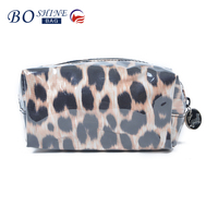 DONGGUAN BOSHINE PVC factory outlet BSCI travel toiletry leopard makeup cosmetic bag