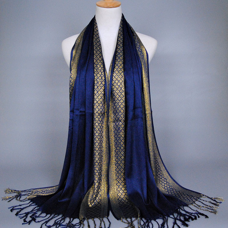Wholesale Ladies <strong>Cotton</strong> &amp; Pleuche Tassels Scarves Muslim Wrap Shawl Hijab