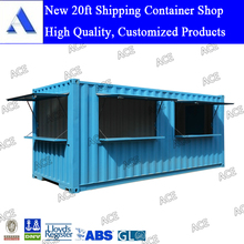 High quality customized new 20ft shipping container shop for sale