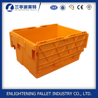 Plastic nestable storage bins moving box with lids