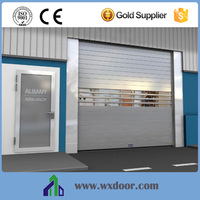 JAD Brand Metal Fast Roll Down Doors Attach with small window