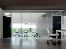 China factory demountable wall systems / Commercial office partitions melbourne glass wall