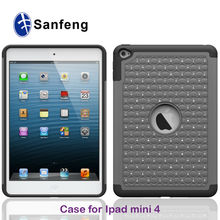 Pearls Diamonds Crystal PC Silicone Hybrid Covers For Mini iPAD 4 Protective Case