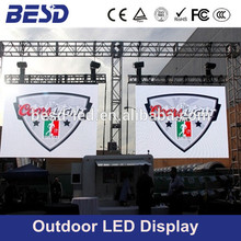 BESD P10 outdoor LED display for fixed installation and rental using