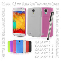 Flexible Slim Thin Hard Case Cover 0,3 mm Transparent Matte for Samsung Galaxy S3 S 3 V i9300 White