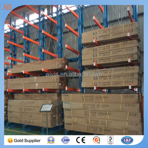 Steel Warehouse Selective Cantilever Rack with Teardrop upright and P beam