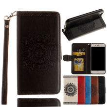 New Design Mandala Pattern Leather Flip Case for iPhone 7 with Stand Function