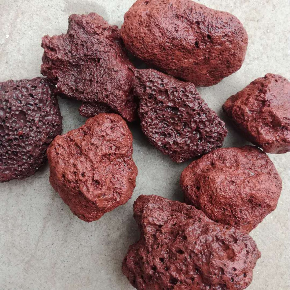 red lava stone volcanic rock for landscaping garden