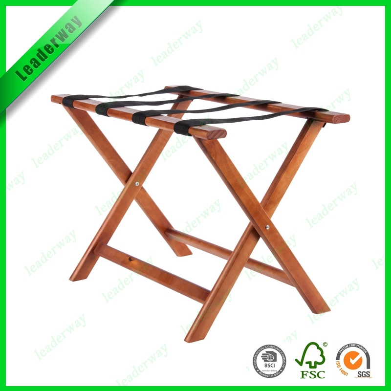 Hot sale functional wooden luggage rack for hotels