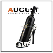 Wine Bottle Holder and/or Decorative Sculpture Party Shoe Zebra Skin Heel Peep-toe