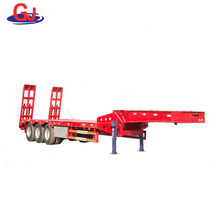 Low prices Three axles low bed semi-trailer with hydraulic ramp