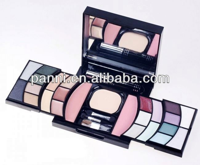 New design cosmetic eyeshadow 25 color makeup eyeshadow ( 12 eyeshadow + 4 concealer + 6 lip gloss + 1 loose powder + 1 blusher)