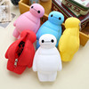 Hot new Adorable Baymax Silicone rubber wallets Coin Purse bag with writsband