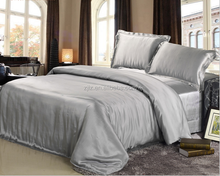 Luxury silk bedding sets Plain dyed Gray Color 19MM 100% Mulberry Silk