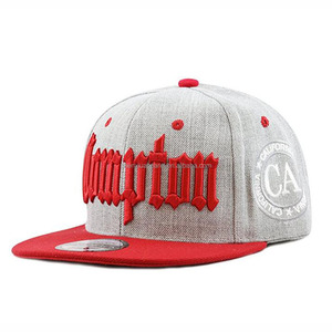 Red 3d puff embroidery snapback cap cool snapback hats