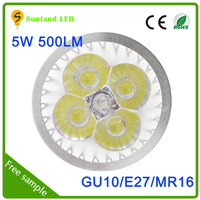 China manufaturer AC85-265v 5w led flood light spotlight CE ROHS approved long range spotlight gu10 5w
