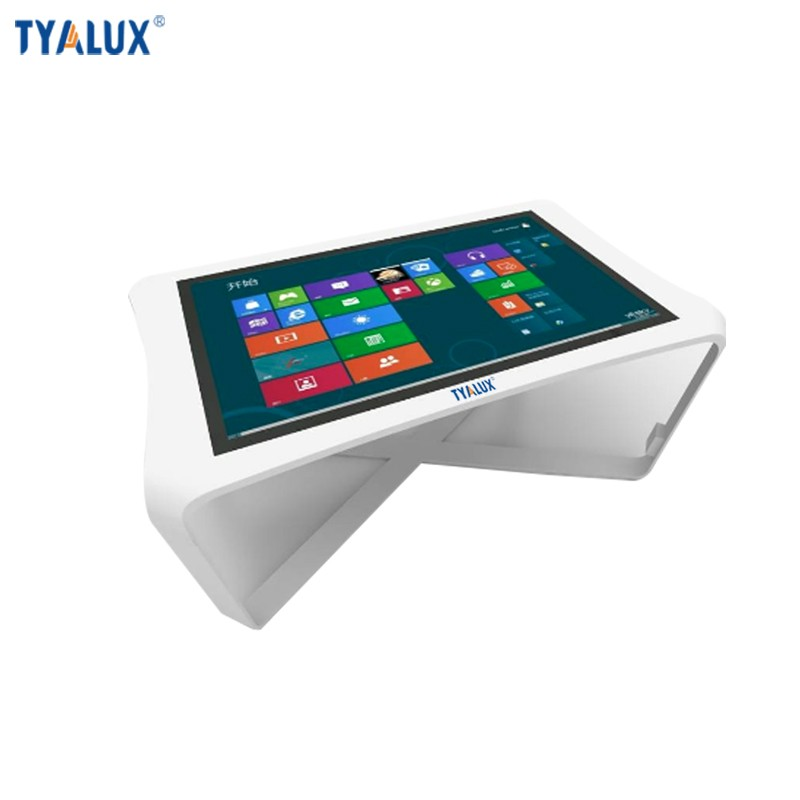 Integrated computer system touch screen all in one pc white table
