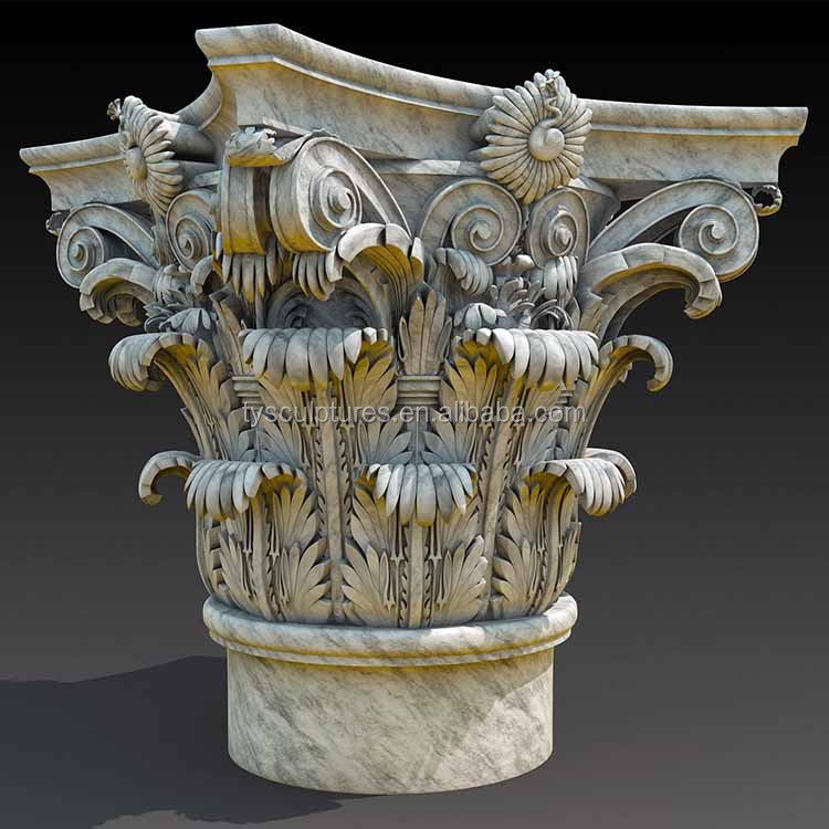 high quality hand carving Corinthian order Roman stone marble columns pillars for building outdoor decoration