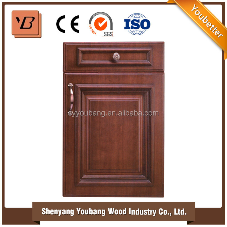 Decorative Colored Hotel interior mahogany veneer molded kitchen cabinet door for living room bedroom
