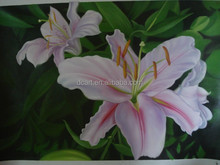 Pink lily home decor modern acrylic canvas painting flowers