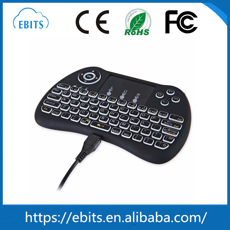 Mini 2.4G Wireless Li Battery Air Fly Mouse Rii i8 2.4G Wireless Keyboard With Touchpad