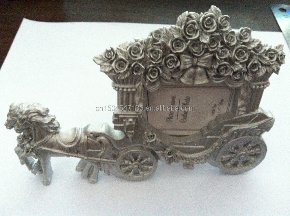 horse carriage resin photo frames for wedding