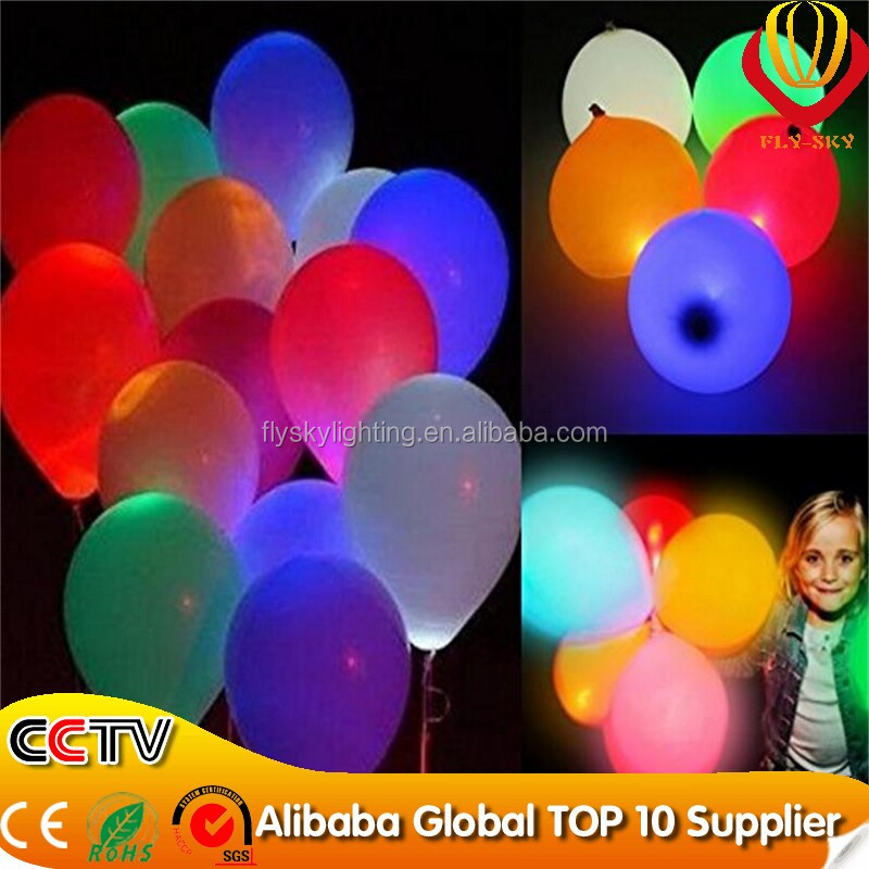 Hot sale on new arrivel led light balloon for pary decoration and childrens funny toy neon flashing luminous balloon