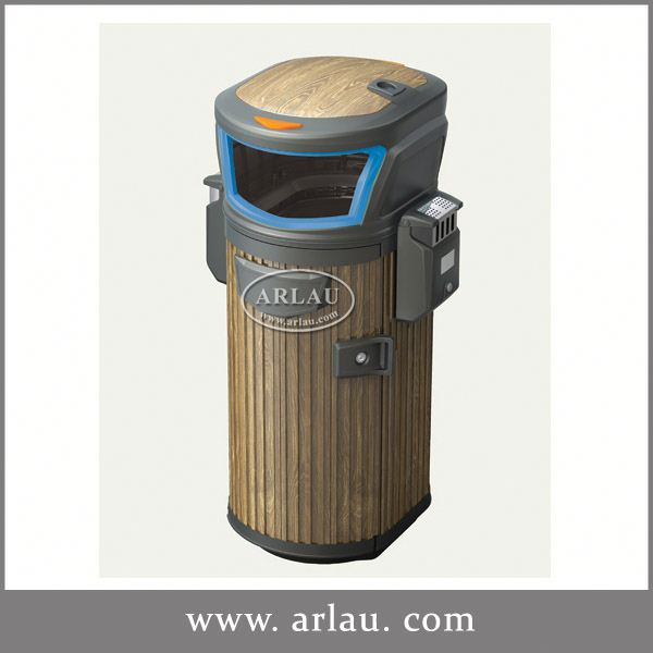 Arlau Curver Recycling Bin,Square Rubbish Bin,Metal Galvanized Outdoor