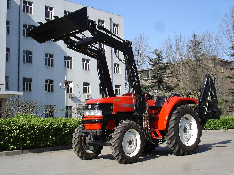 TY404 china cheap farm tractor 2017 with loader TZ-04 red color